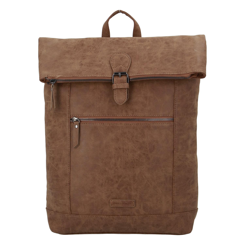 Štýlový veľký batoh camel - Enrico Benetti Amsterodam