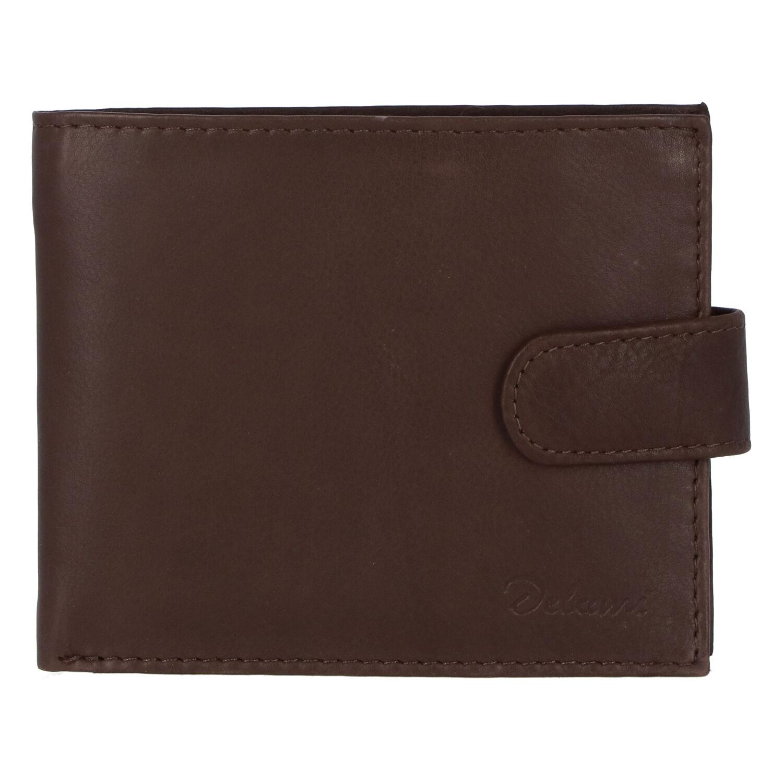Pánska kožená hnedá peňaženka - Delami 9371