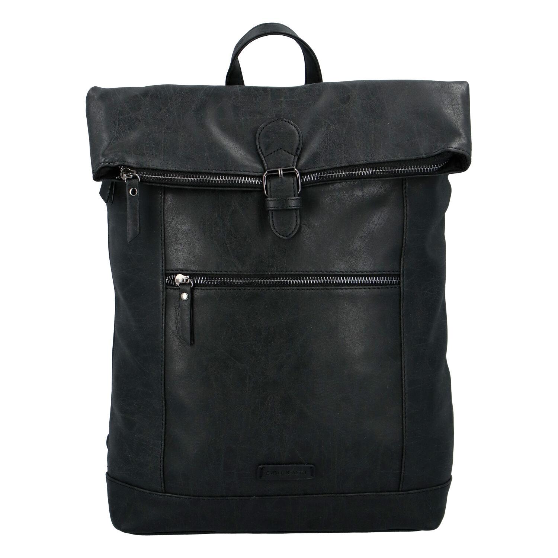Štýlový stredný batoh čierny - Enrico Benetti Amsterdam