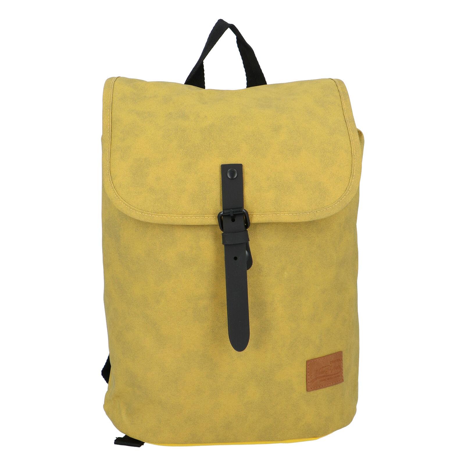 Elegantný látkový tmavo žltý batoh - New Rebels Morpheus Next