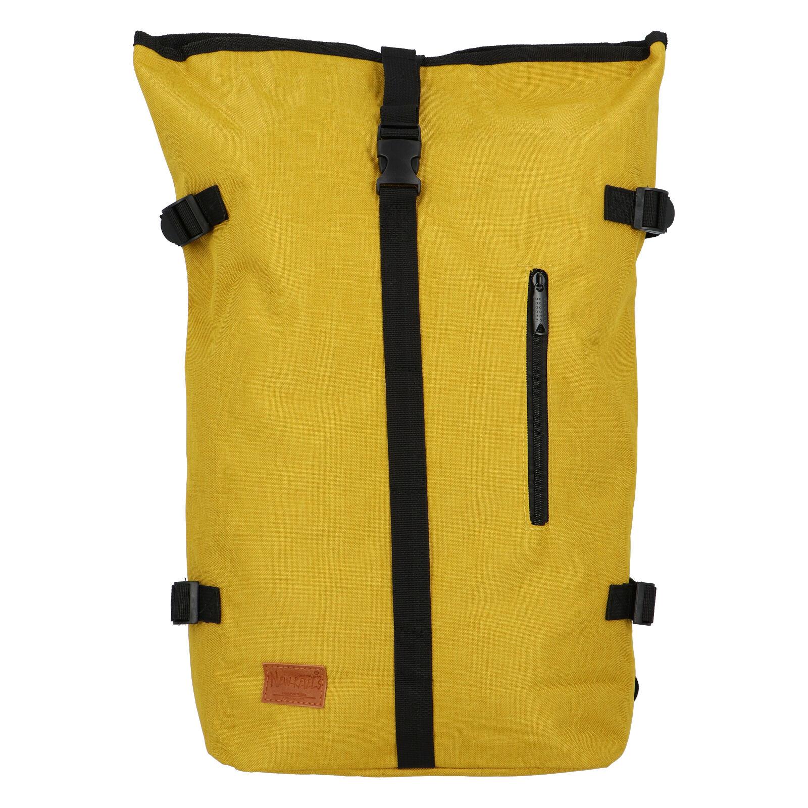 Jedinečný veľký štýlový unisex batoh žltý - New Rebels Rebback