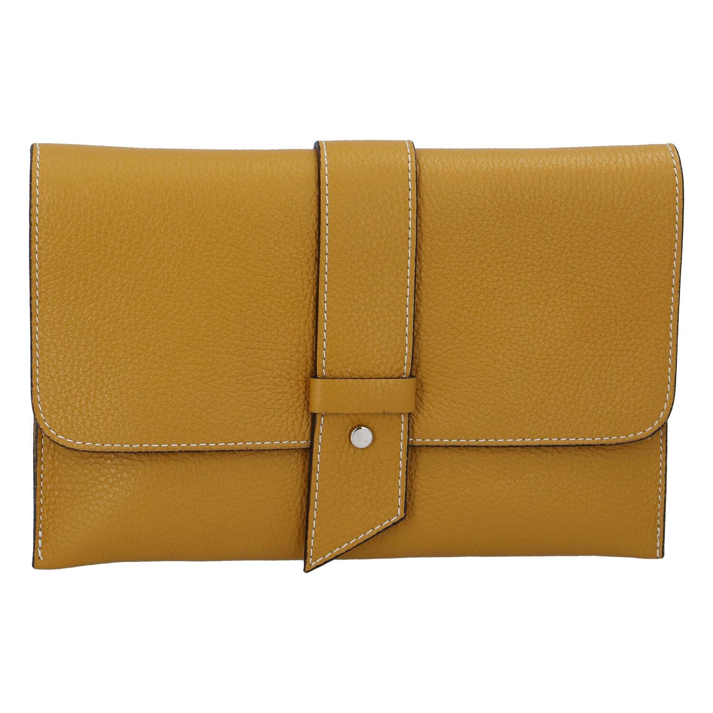 Luxusná dámska kabelka tmavožltá - ItalY Brother