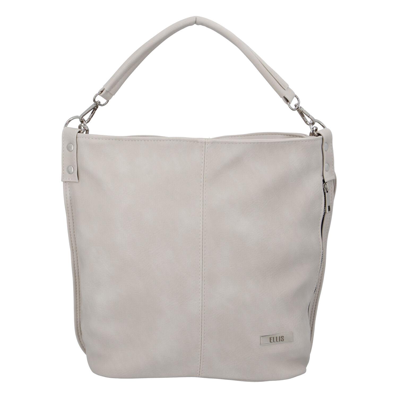 Elegantná dámska kabelka cez rameno krémovo sivá - Ellis Negina