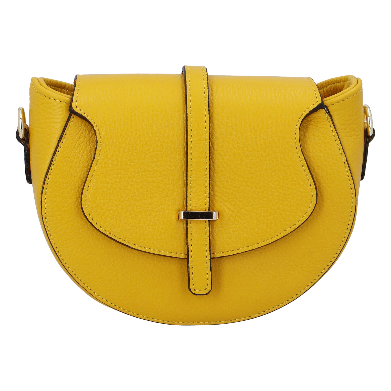 Dámska kožená crossbody kabelka žltá - ItalY Blauke