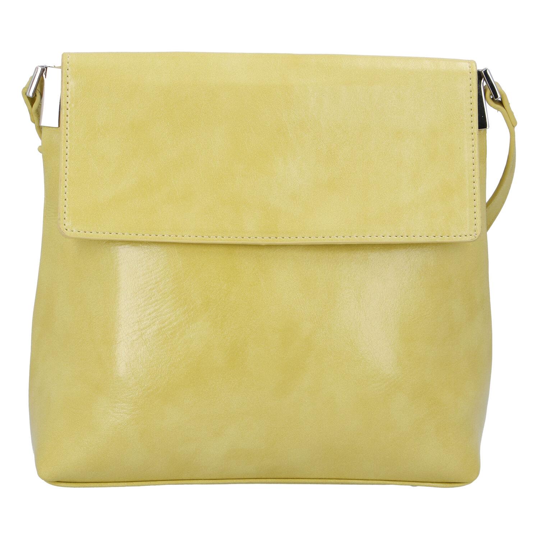 Dámska crossbody kabelka žltá - DIANA & CO Buzzy