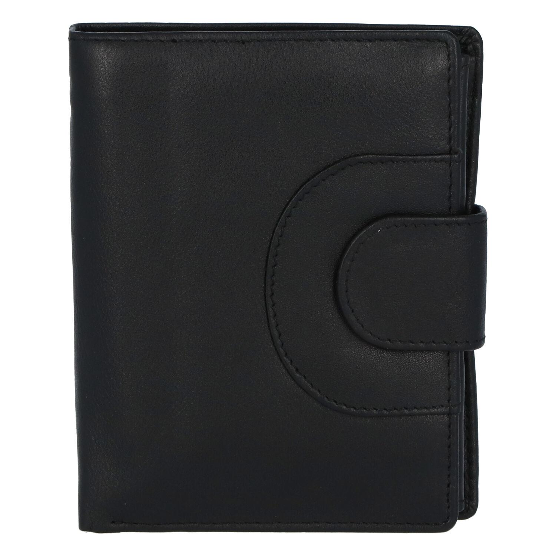 Elegantná kožená peňaženka čierna - Tomas Pilia