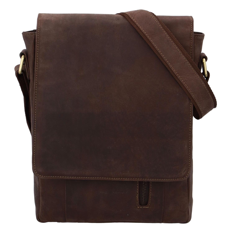 Pánska kožená taška hnedá - Tomas Harry Two