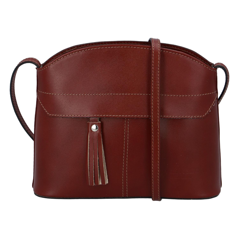 Hnedá kožená crossbody kabelka - ItalY Marla