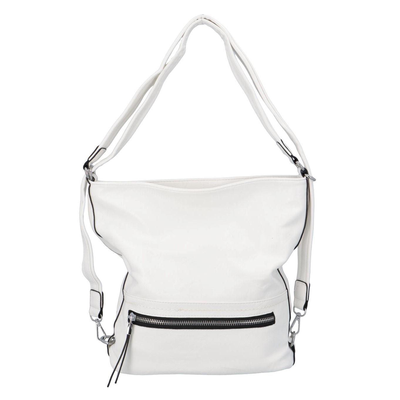 Dámska kabelka batoh biela - Romina Nikka