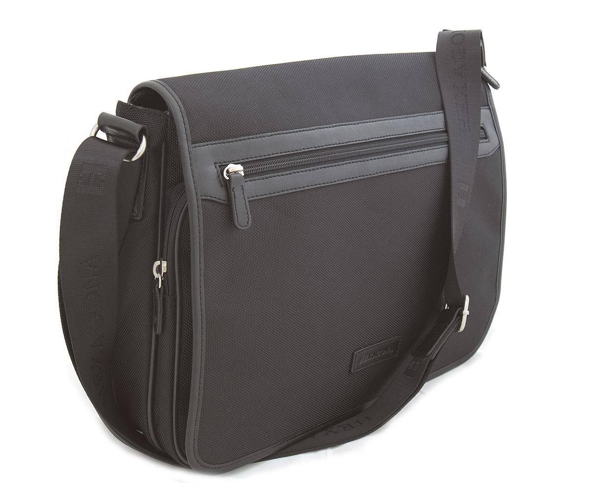 Čierna pánska taška cez rameno Hexagona D72279