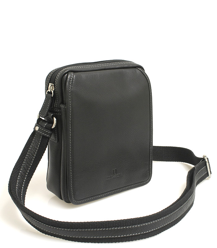 Čierna luxusná kožená dokladovka Hexagona 469565