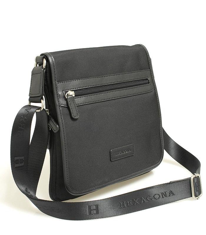 Čierna taška cez rameno Hexagona D72248