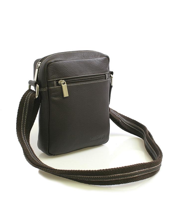 Tmavo-hnedá luxusná kožená taška IG714