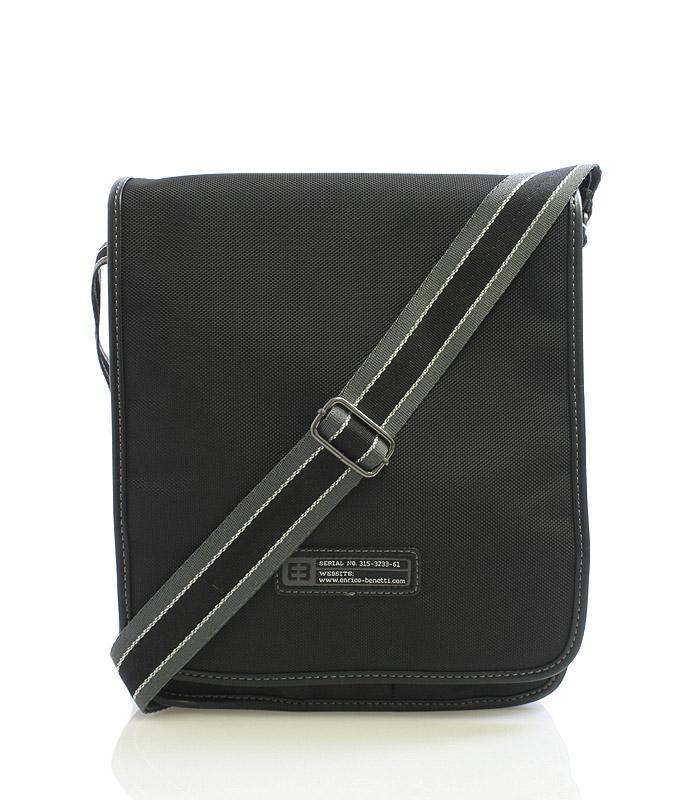 Čierna taška cez rameno Enrico Benetti 4470