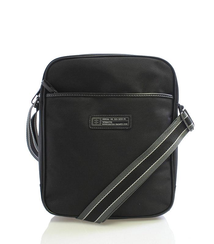 Čierna taška cez rameno Enrico Benetti 4471