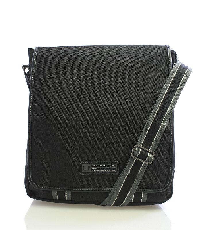 Čierna taška cez rameno Enrico Benetti 4472
