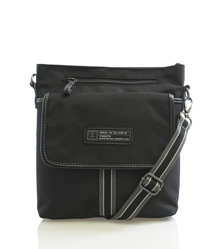Čierna taška cez rameno Enrico Benetti 4474