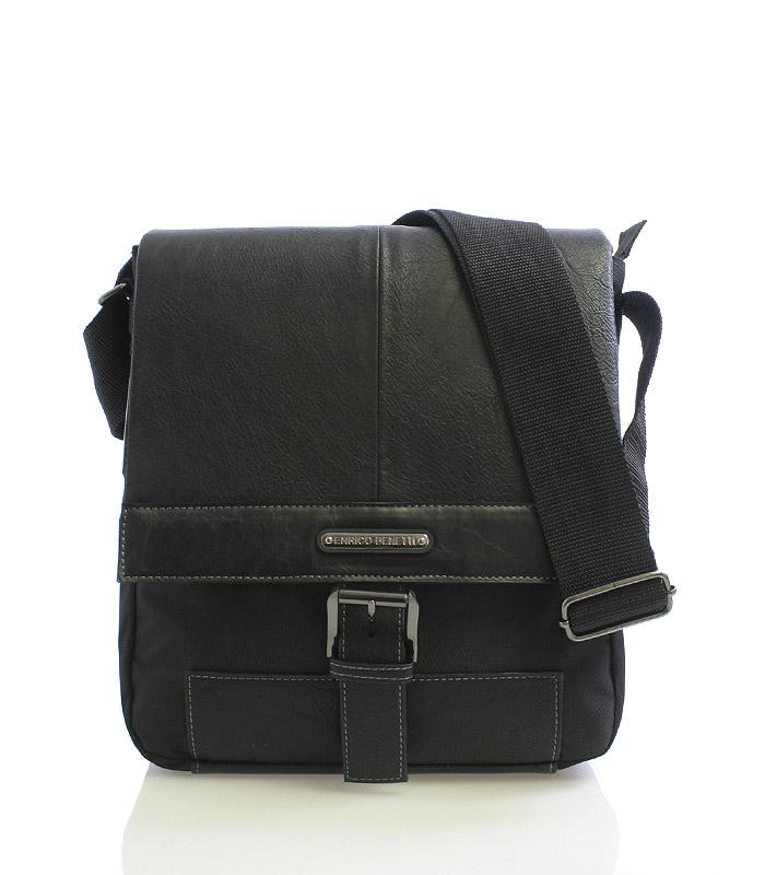 Čierna taška cez rameno Enrico Benetti 4486