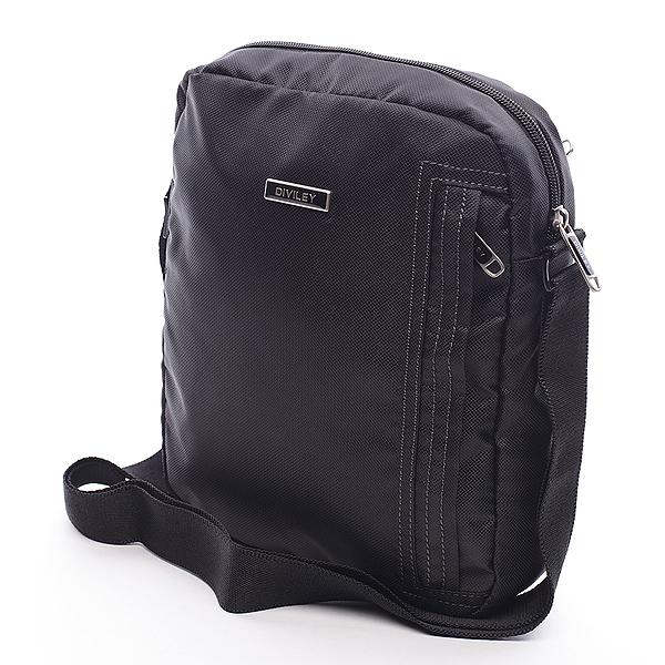 Čierna taška cez rameno Diviley Mike