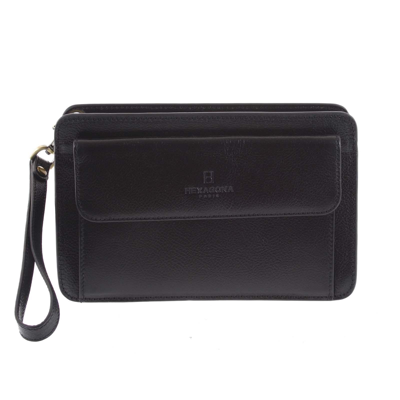 Čierne luxusné pánske kožené etue 110482