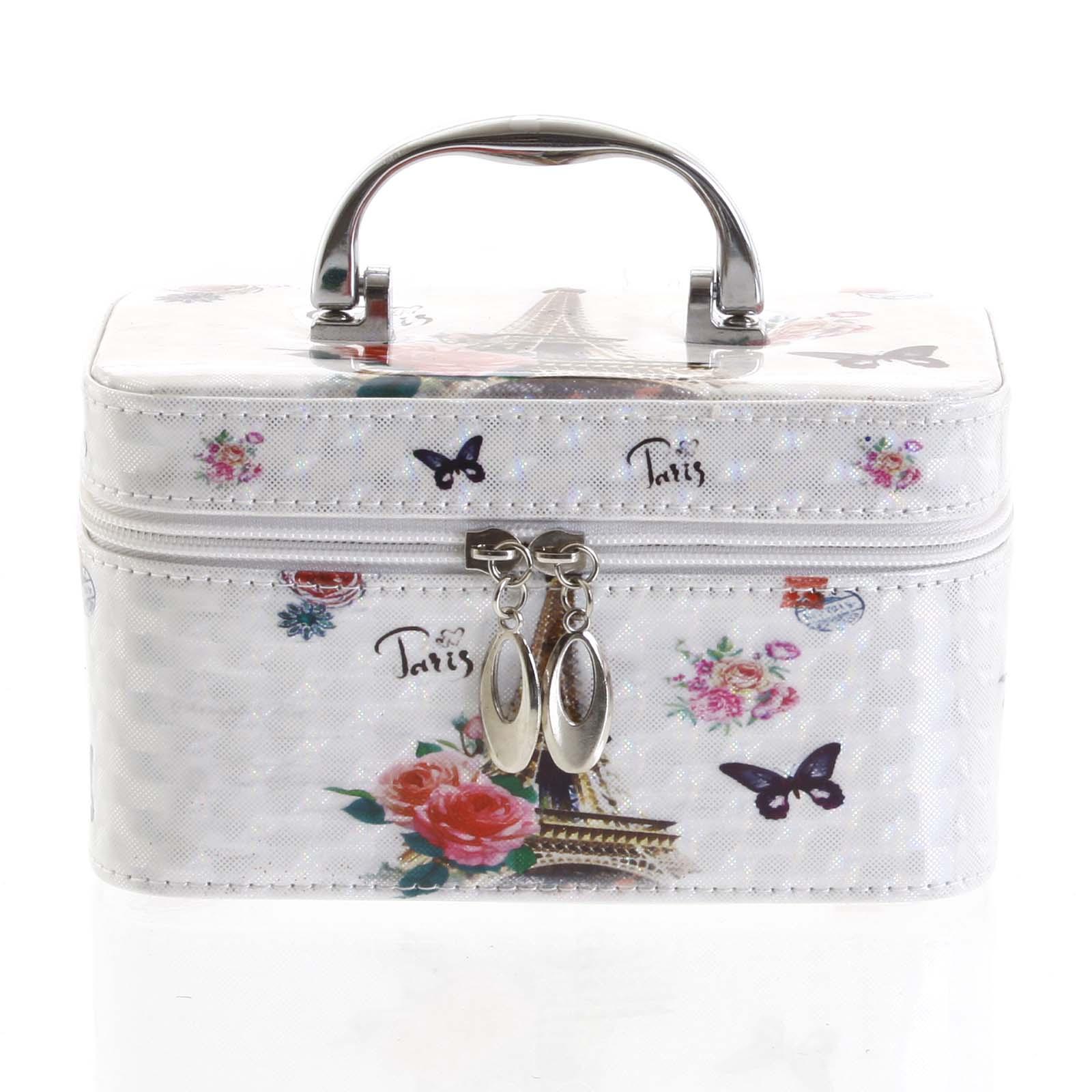 Dámsky kozmetický kufrík biely - Yoody S