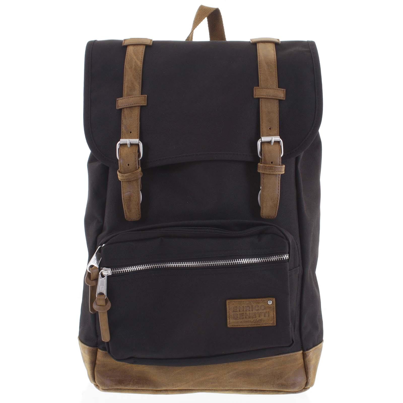 Veľký pánsky batoh čierny - Enrico Benetti Kambik