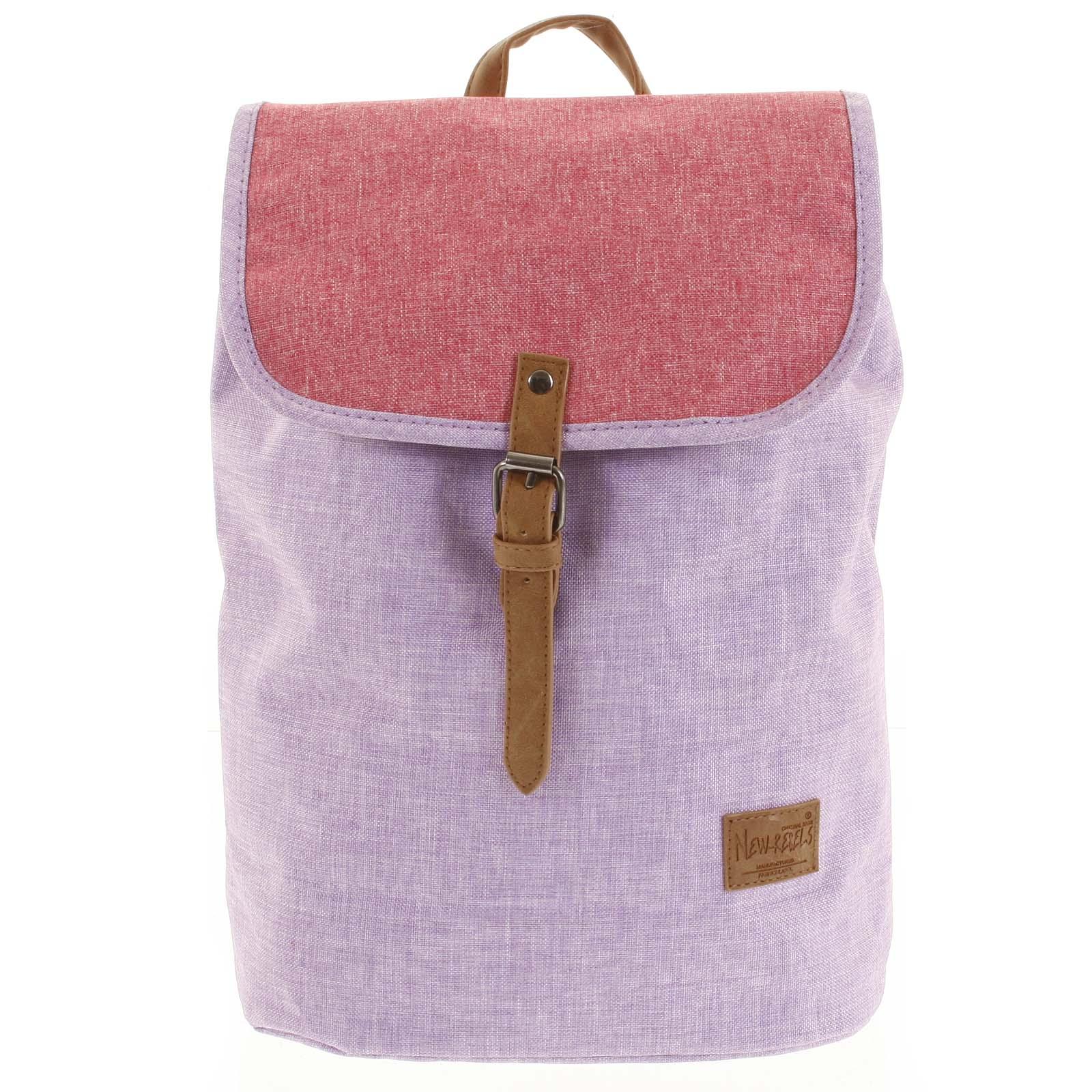 Elegantný látkový fialovo ružový ruksak - New Rebels Morpheus
