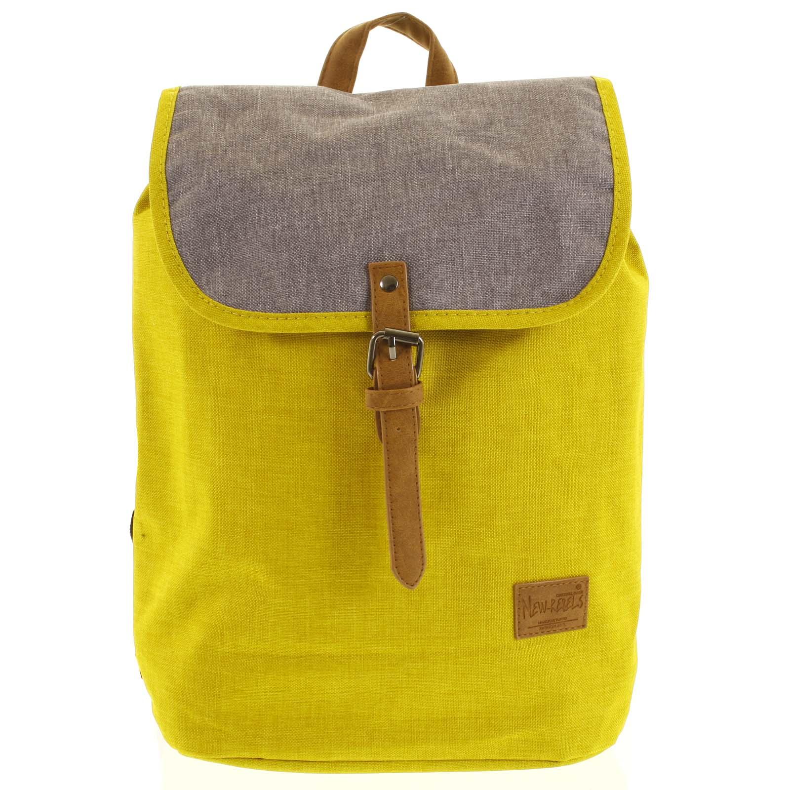 Elegantný látkový žlto sivý batoh - New Rebels Morpheus