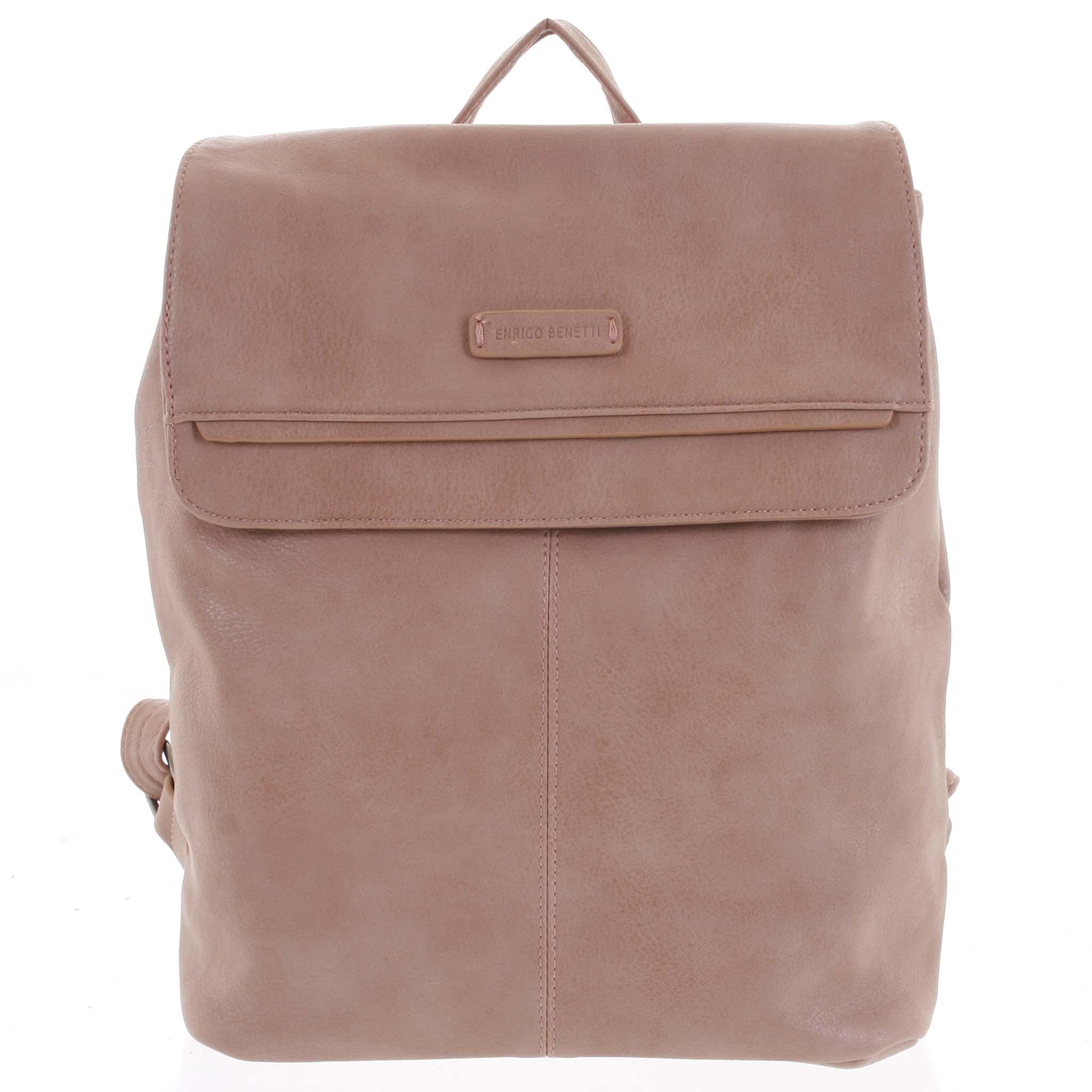 Dámsky štýlový batoh ružový - Enrico Benetti Neneke