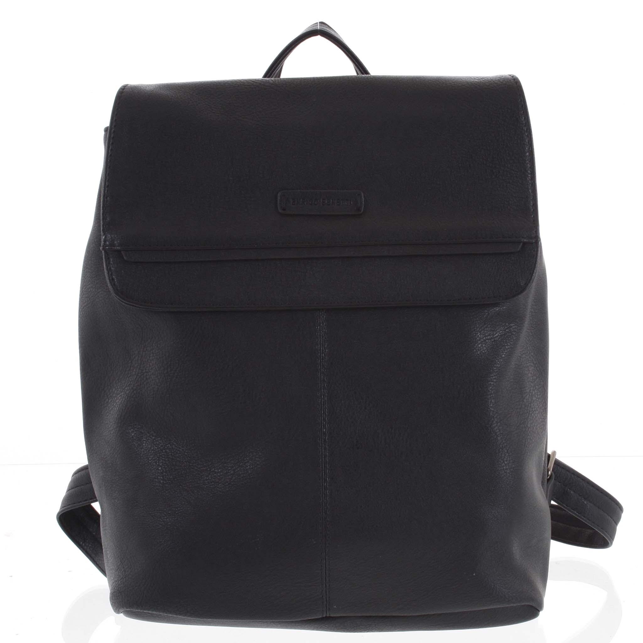 Dámsky štýlový batoh čierny - Enrico Benetti Neneke