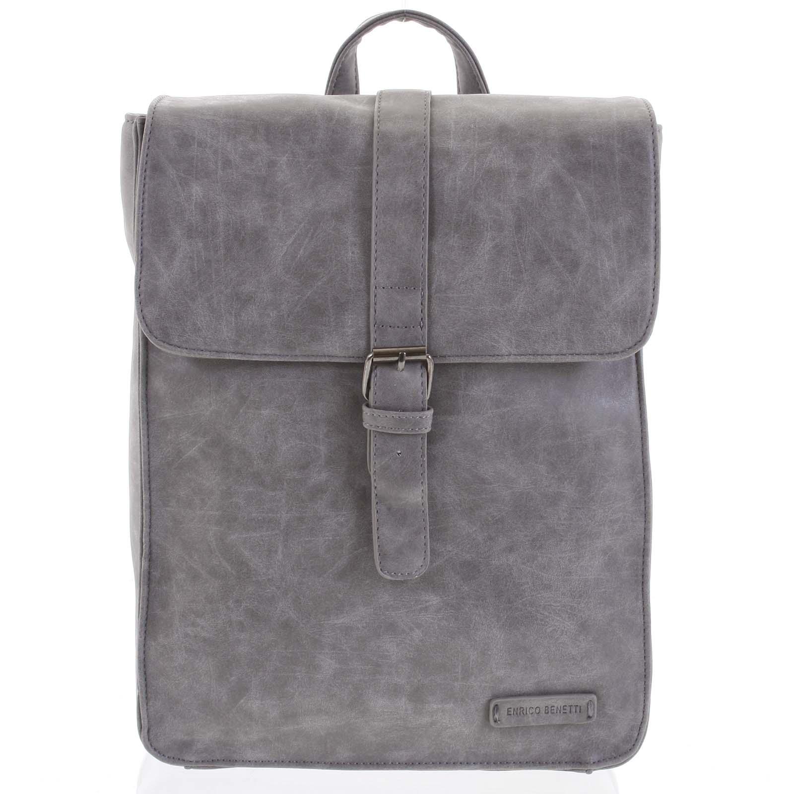 Štýlový batoh sivý - Enrico Benetti Steffani