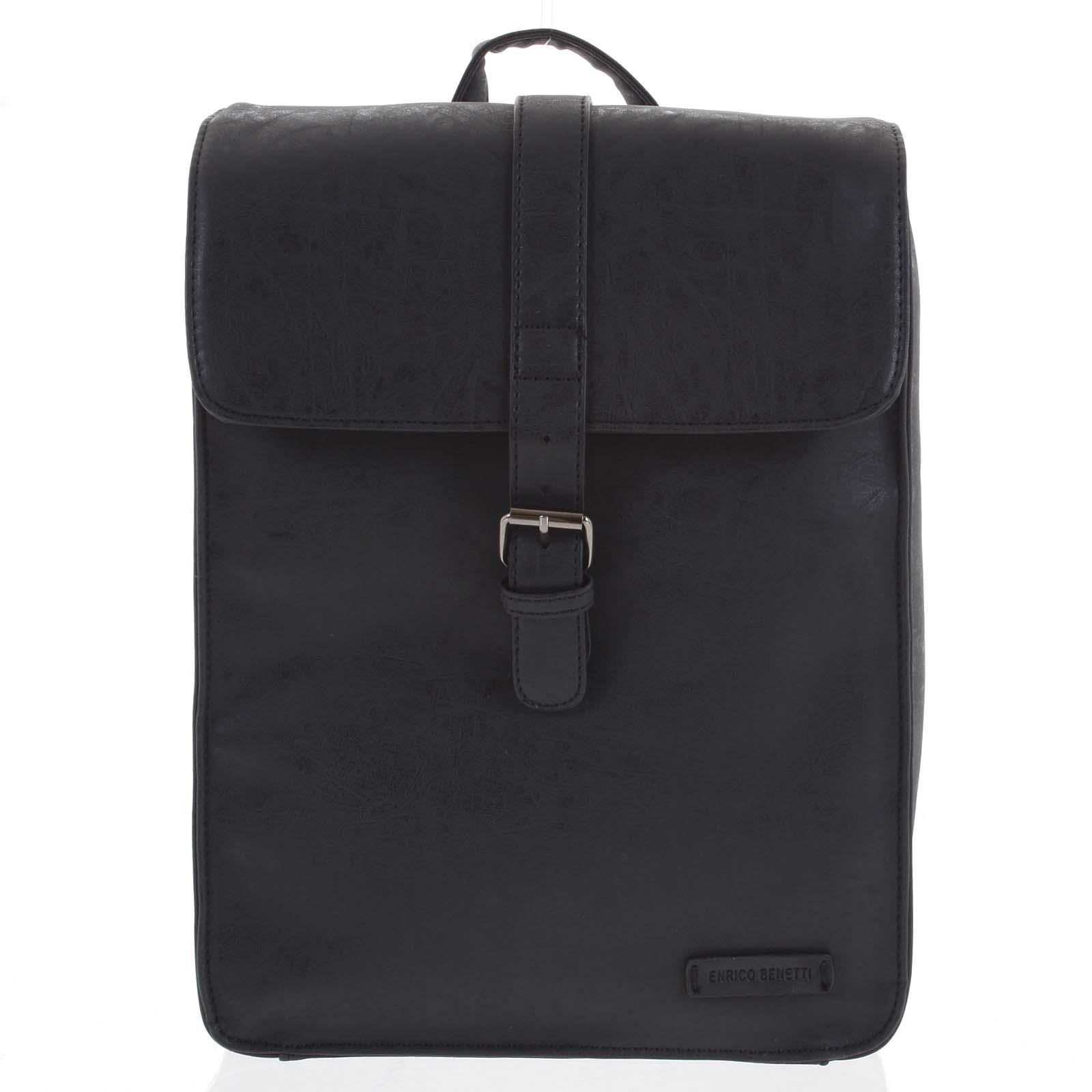 Štýlový batoh čierny - Enrico Benetti Steffani