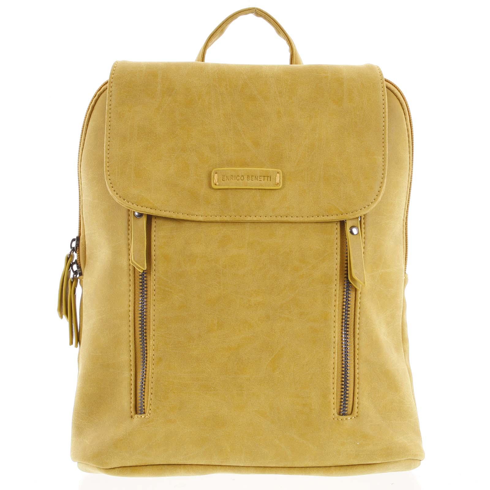 Dámsky stredný batoh žltý - Enrico Benetti Aviana