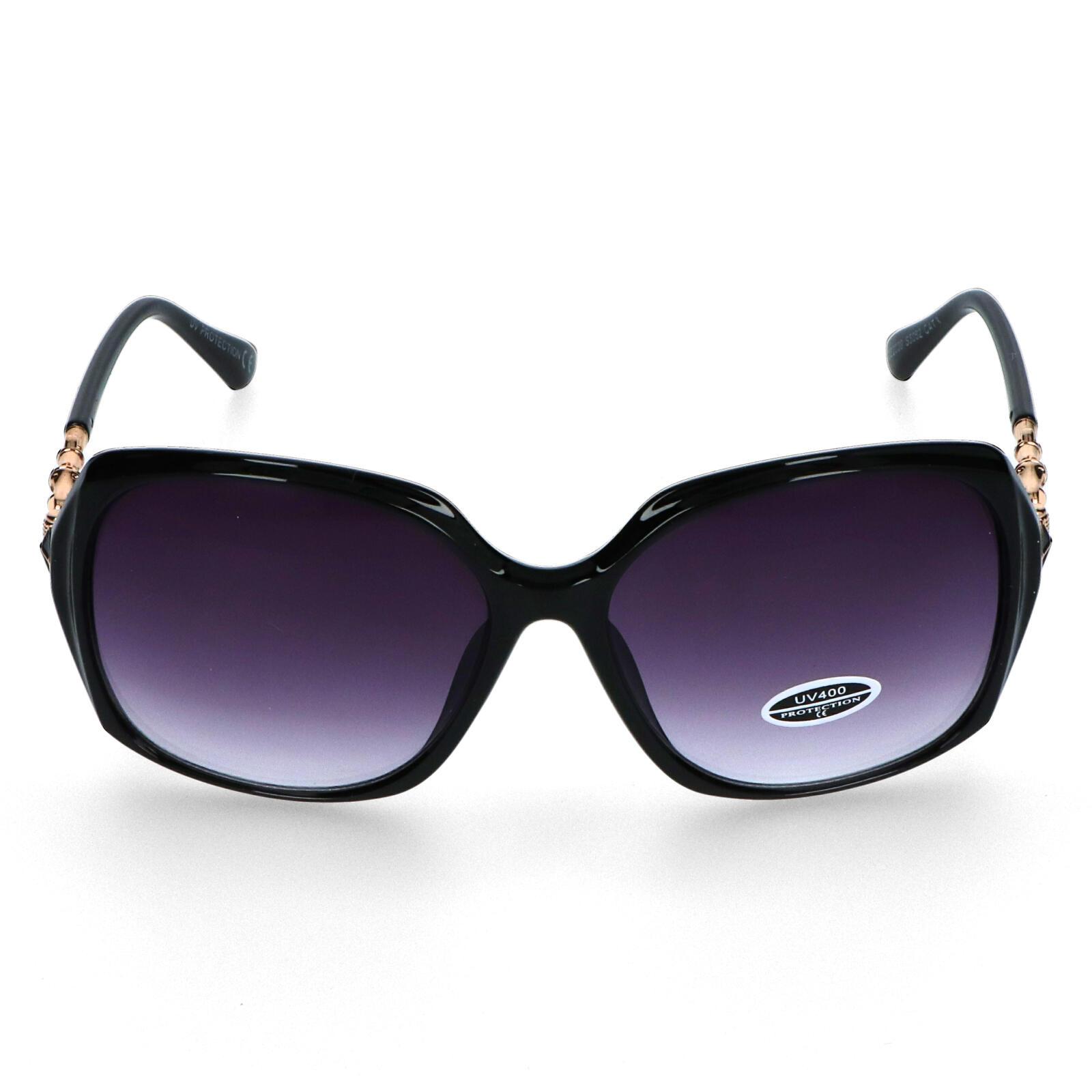 Dámske slnečné okuliare čierne - S2605