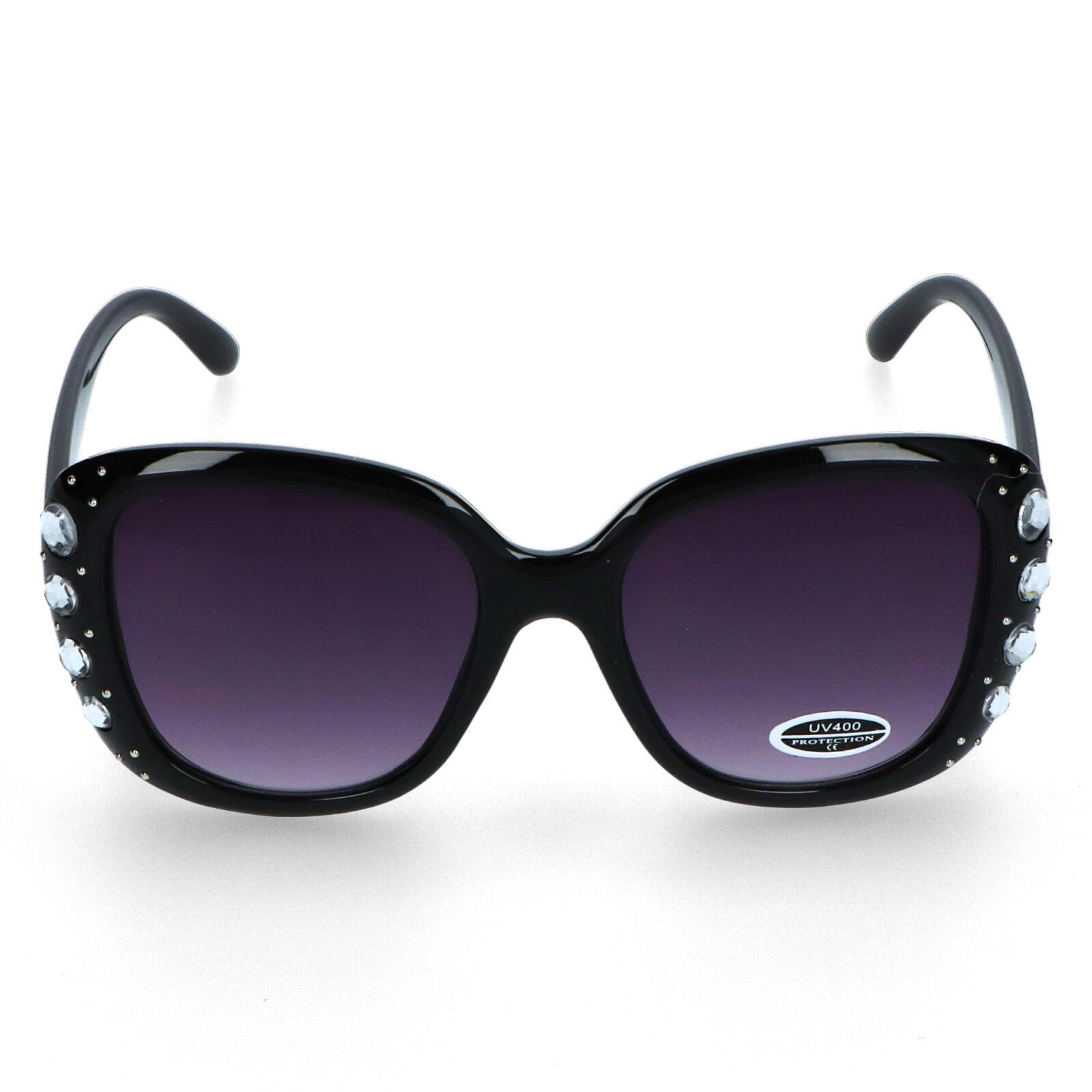 Dámske slnečné okuliare čierne - S7304