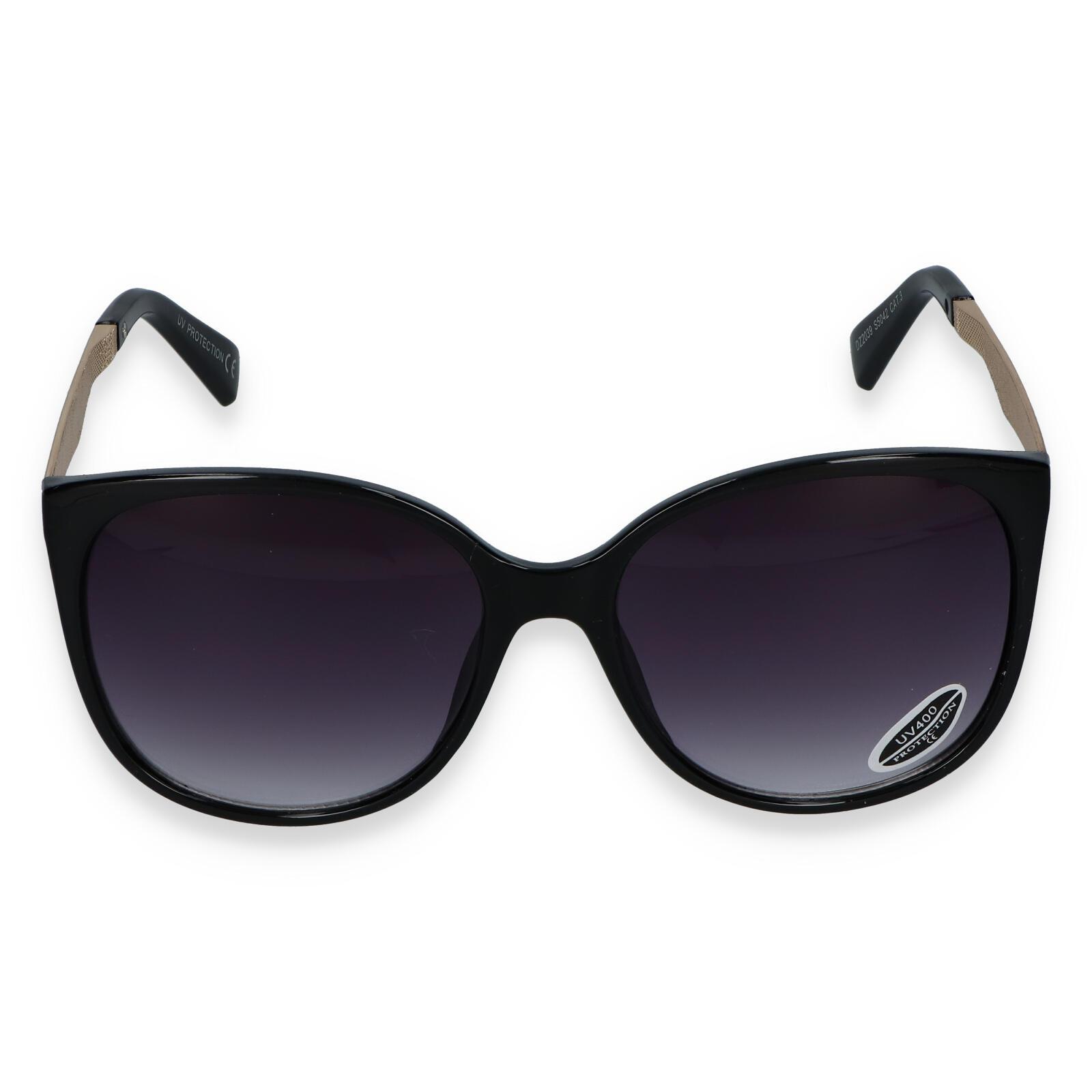 Dámske slnečné okuliare čierne - S2405