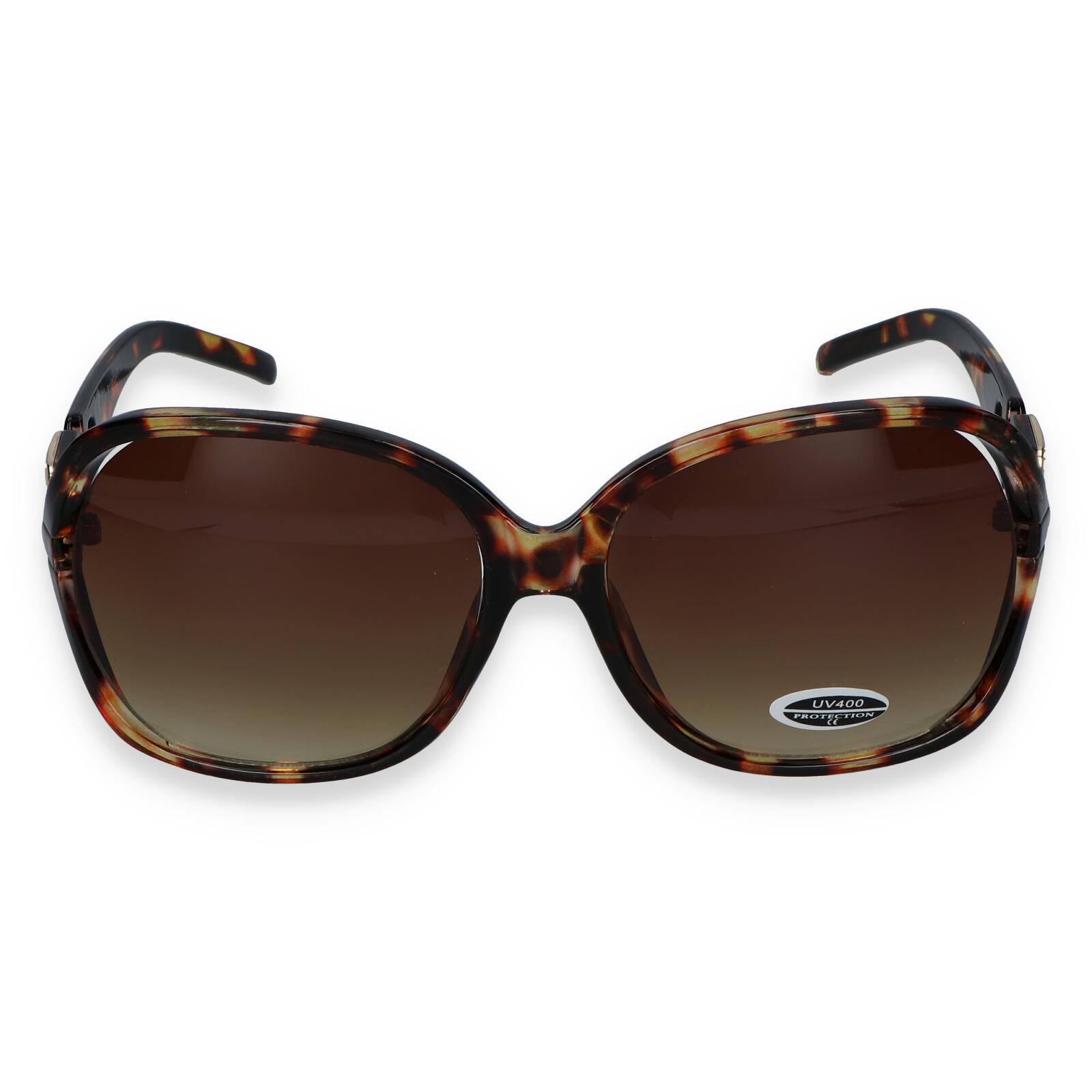 Dámske slnečné okuliare hnedé - S7504