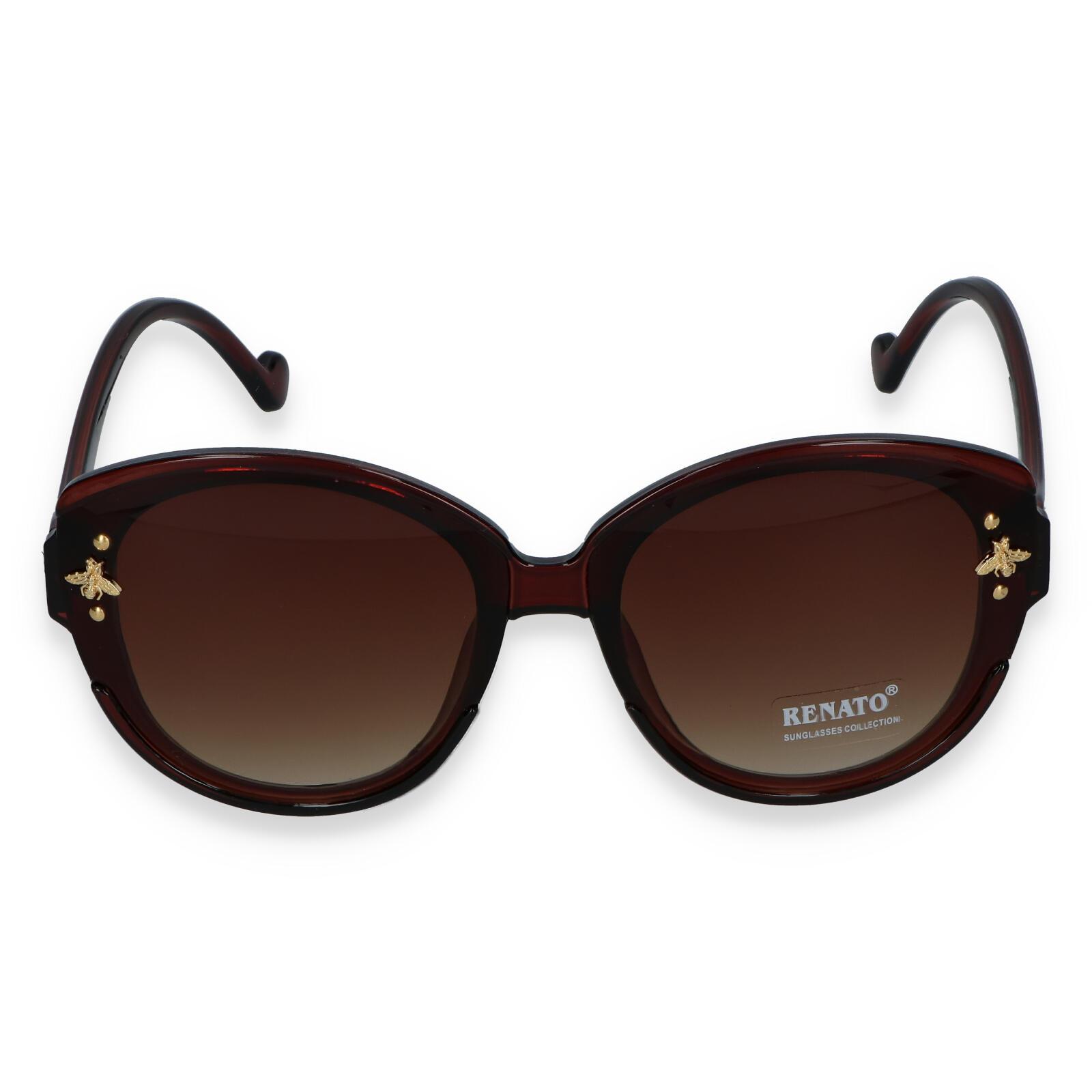 Dámske slnečné okuliare tmavohnedé - R403