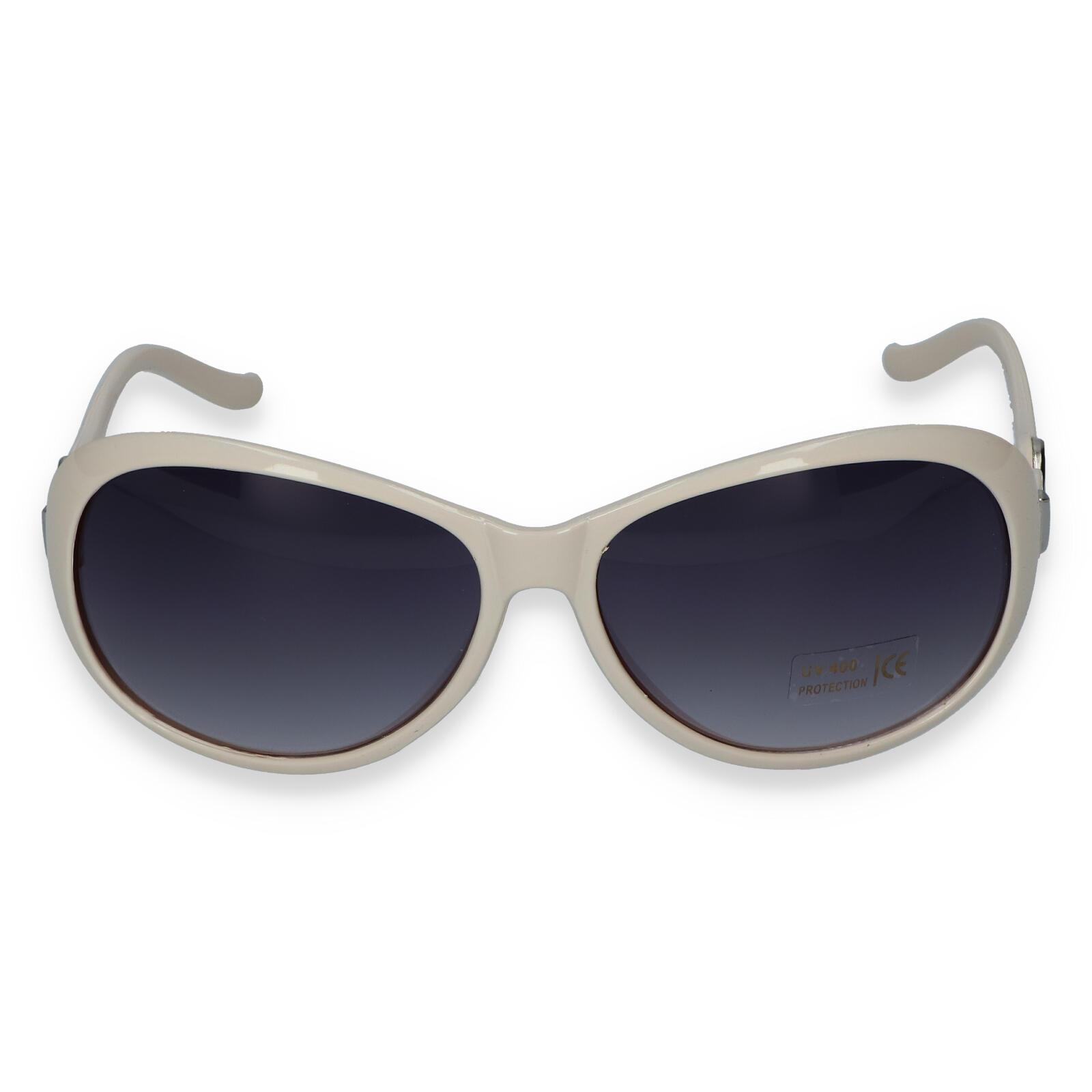 Dámske slnečné okuliare krémovobielej - LH185