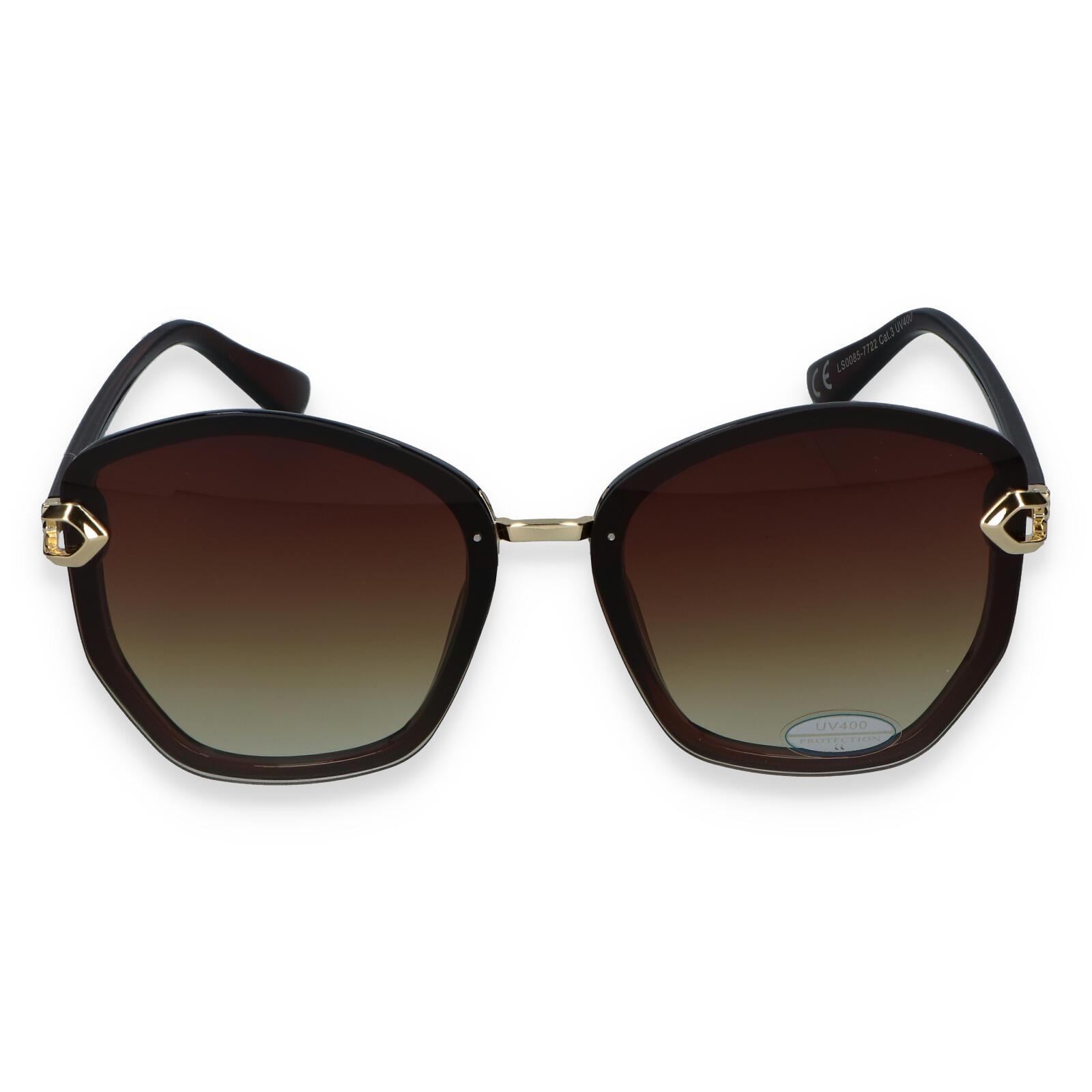 Dámske slnečné okuliare tmavohnedé - LS22