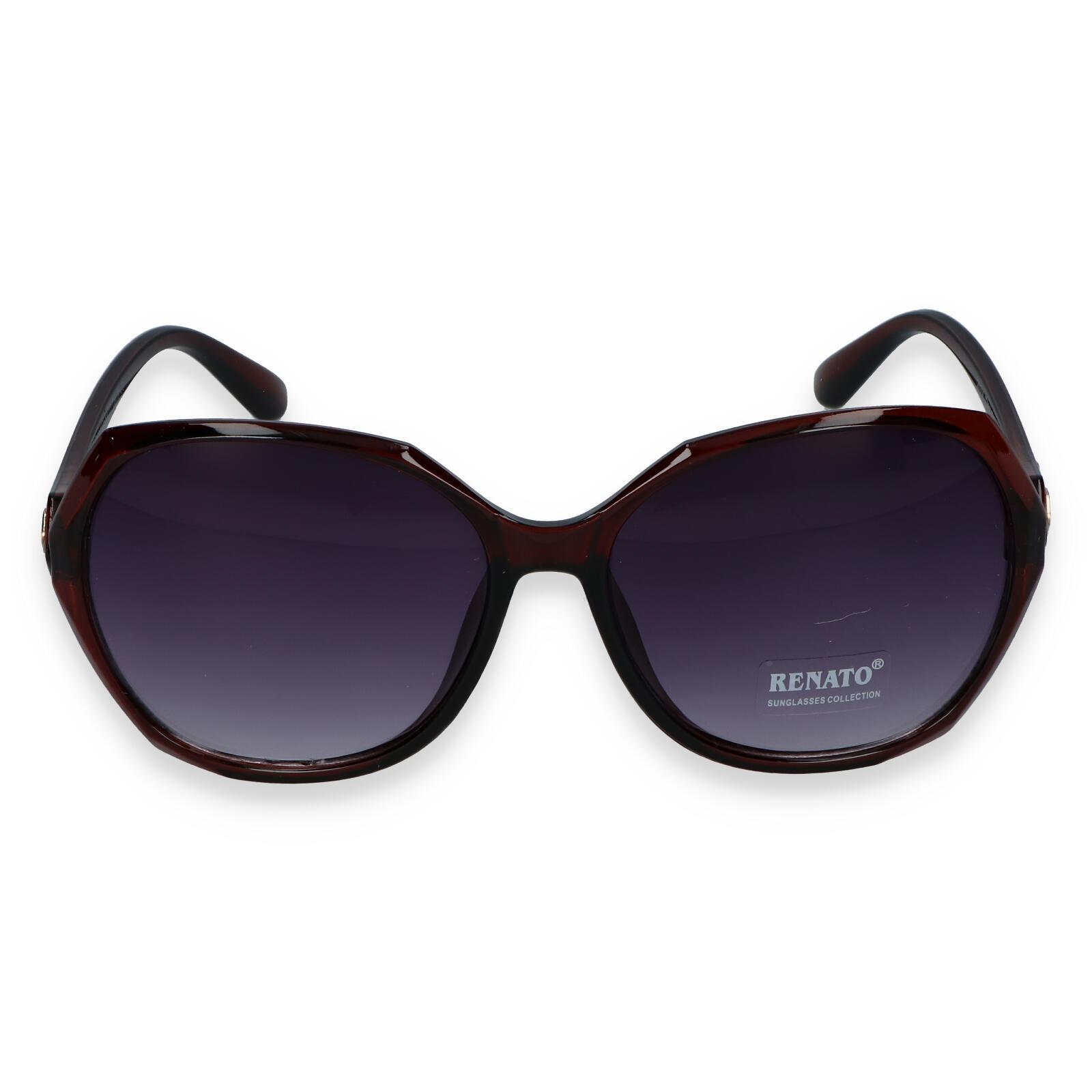 Dámske slnečné okuliare tmavohnedé - R613