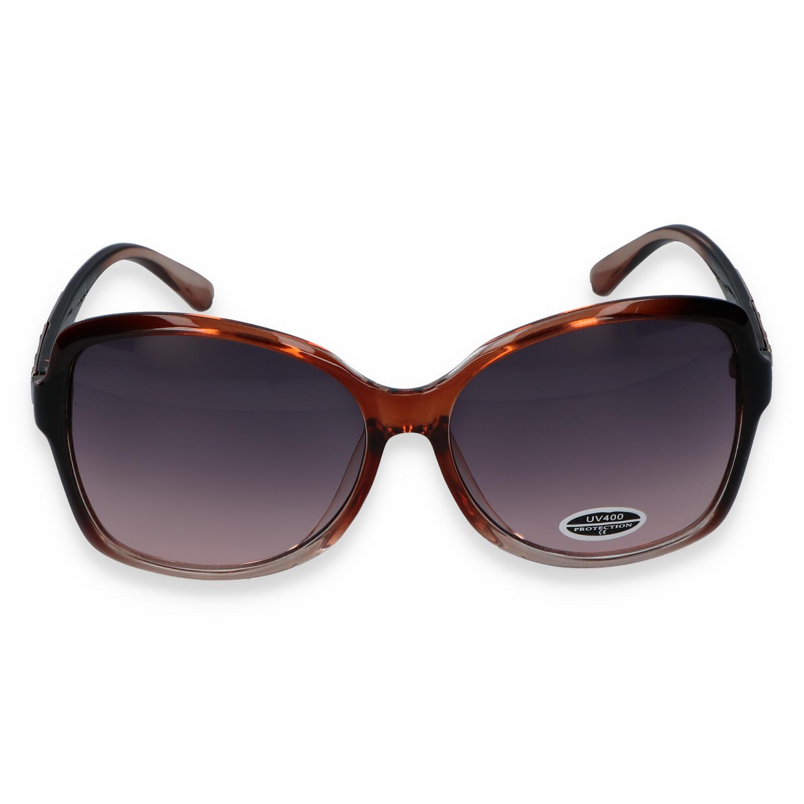 Dámske slnečné okuliare hnedé - S3411