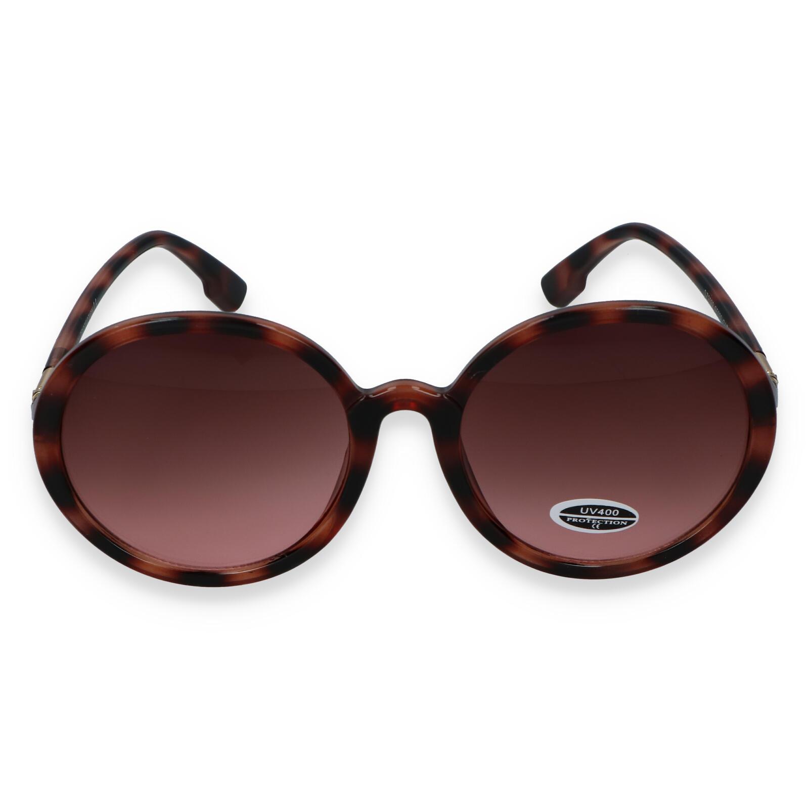 Dámske slnečné okuliare hnedo čierne - S9305