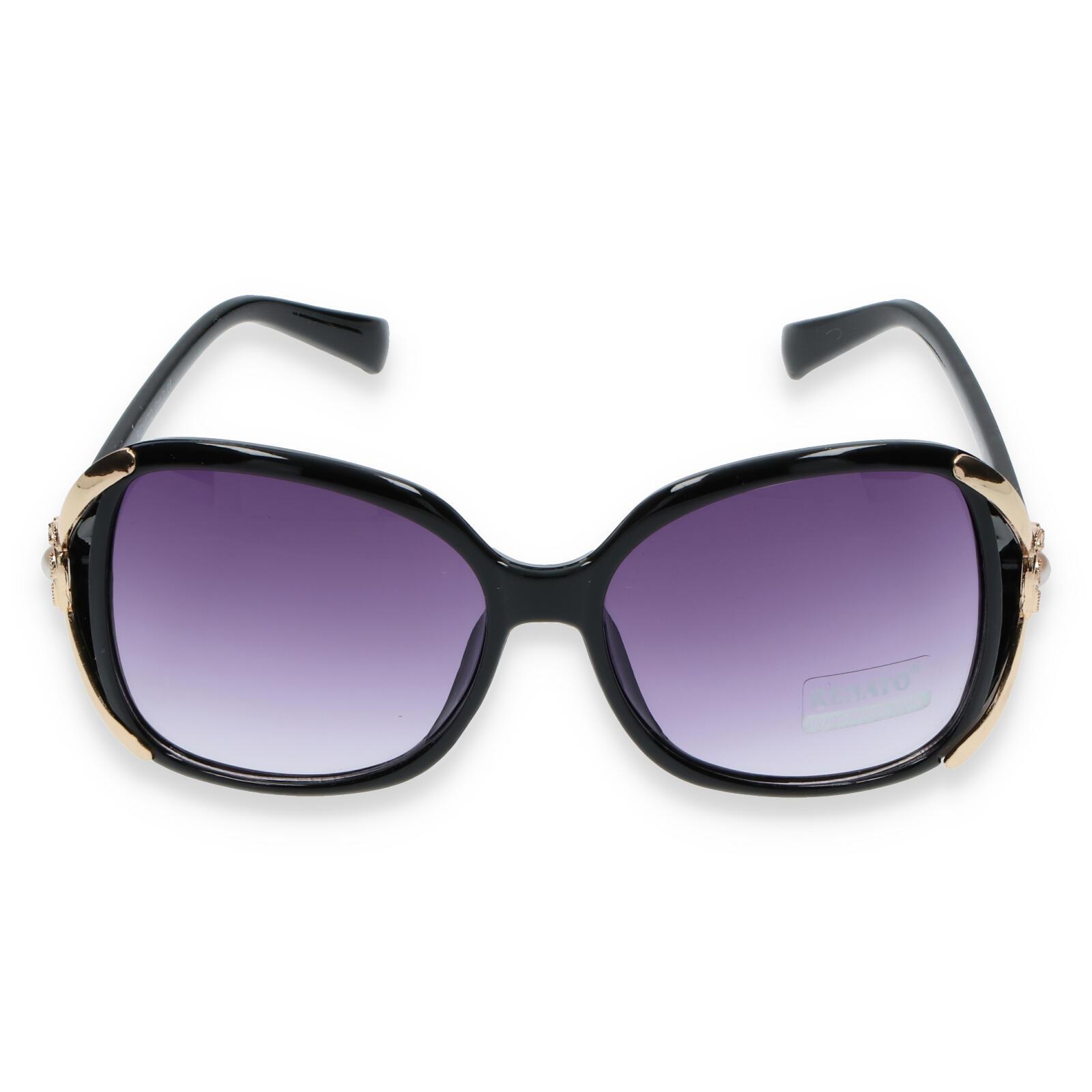 Dámske slnečné okuliare čierne - R903