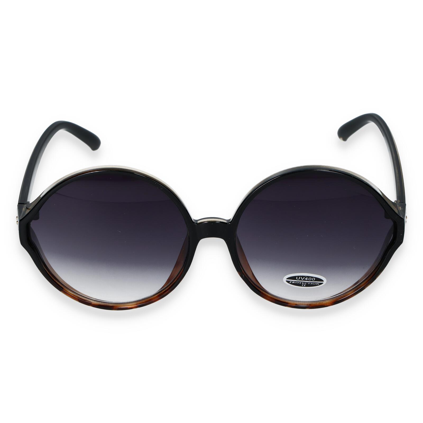 Dámske slnečné okuliare čiernohnedé - S9505