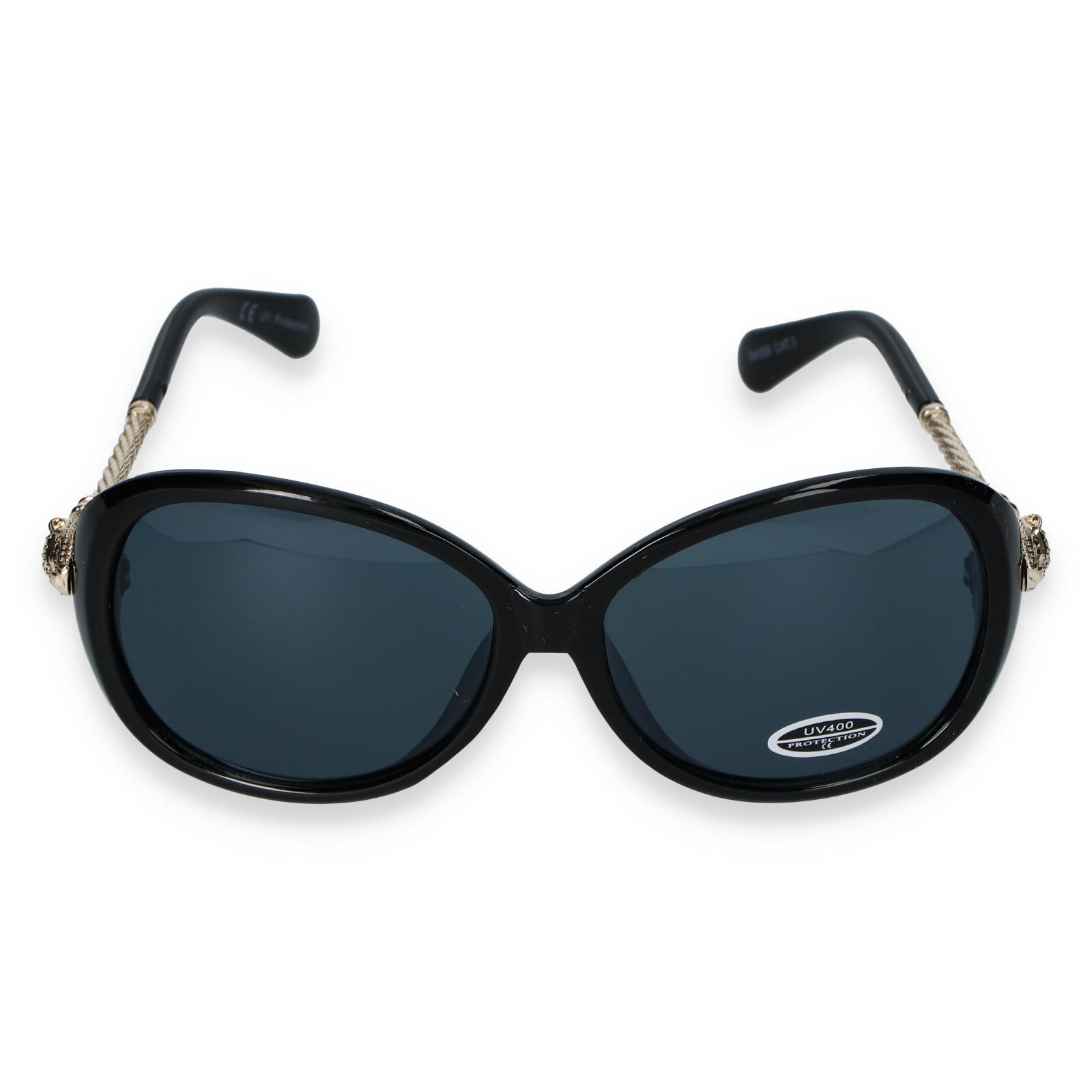 Dámske slnečné okuliare čierne - S8504