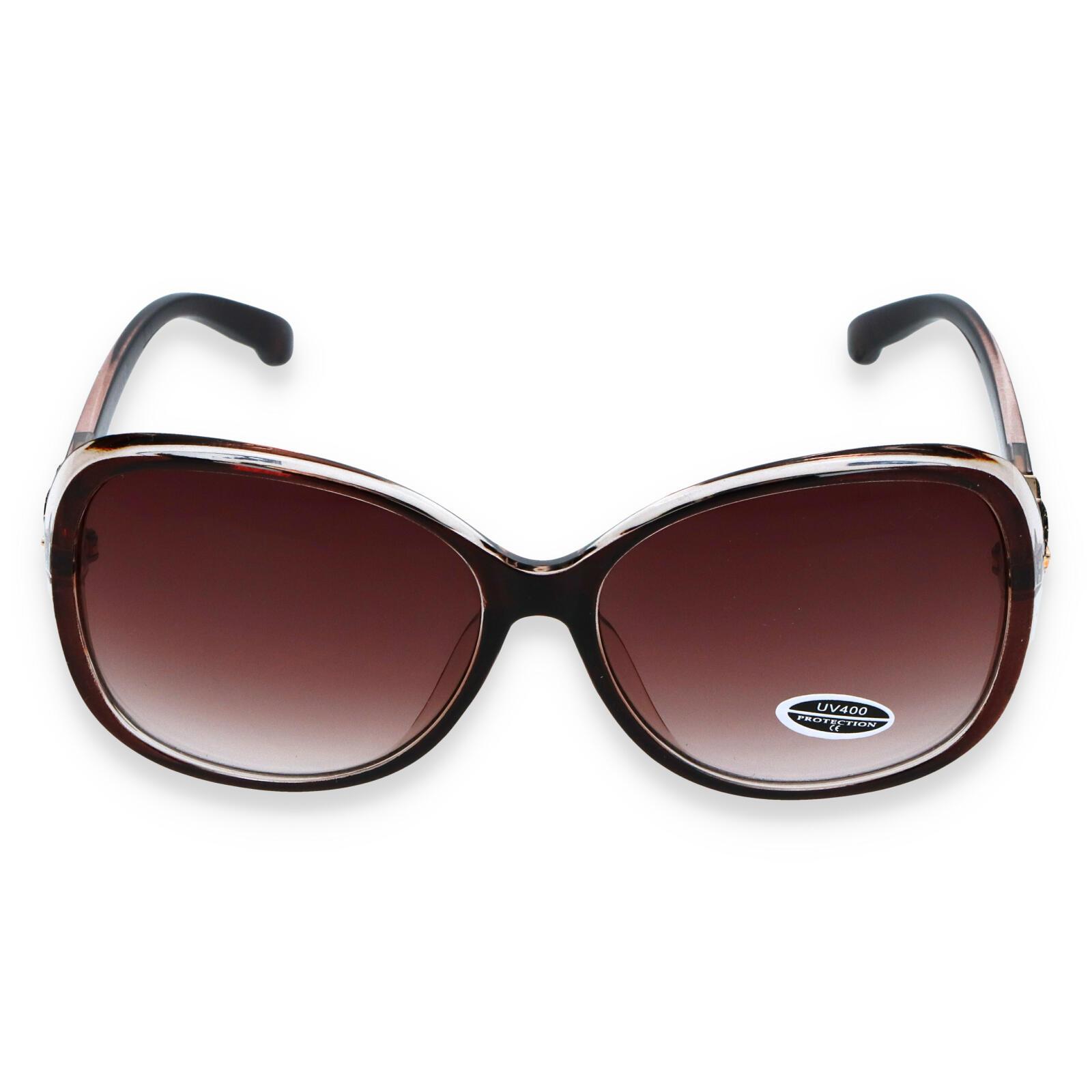 Dámske slnečné okuliare tmavohnedé - S3013