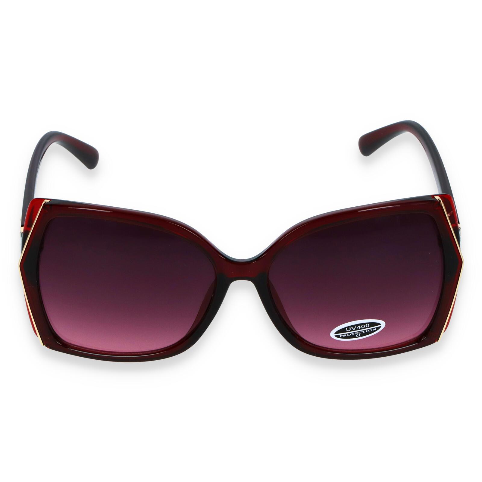 Dámske slnečné okuliare tmavo červené - S6505