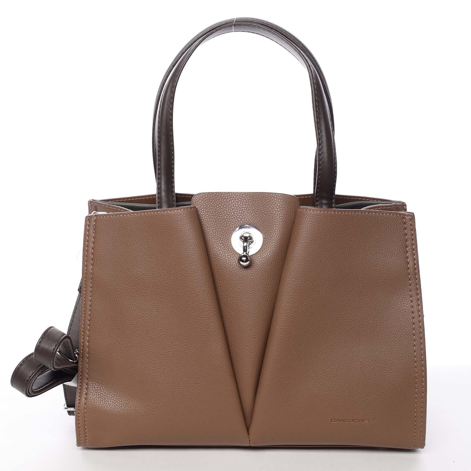 Luxusná dámska hnedá kabelka do ruky - David Jones Aedon