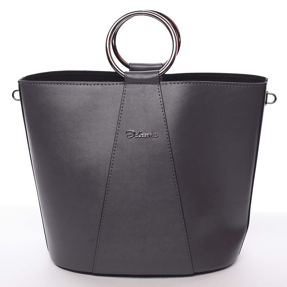 Nadčasová dámska kabelka s organizérom sivá - Delami Karsyn